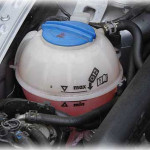 Check your coolant bottle